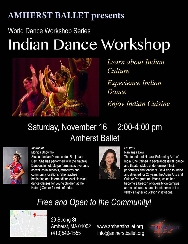 Indian Dance Workshop at Amherst Ballet