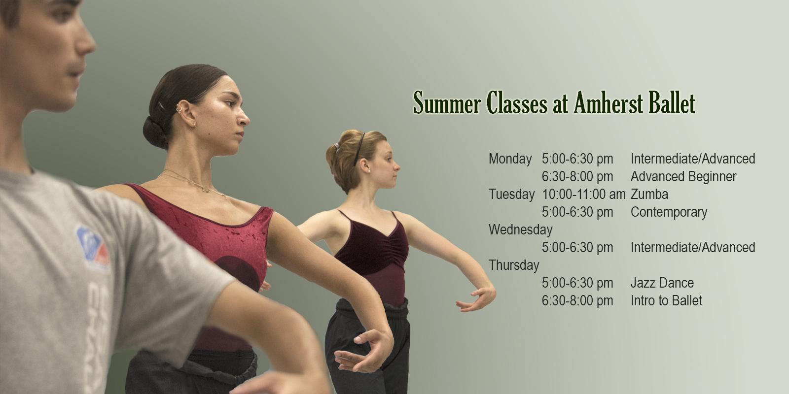 Amherst Ballet 2021 Summer Classes