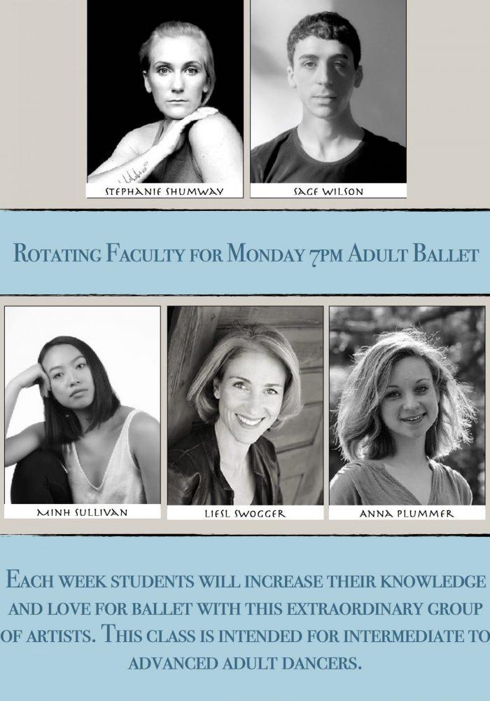 Flyer Adult Ballet Mondays 7pm